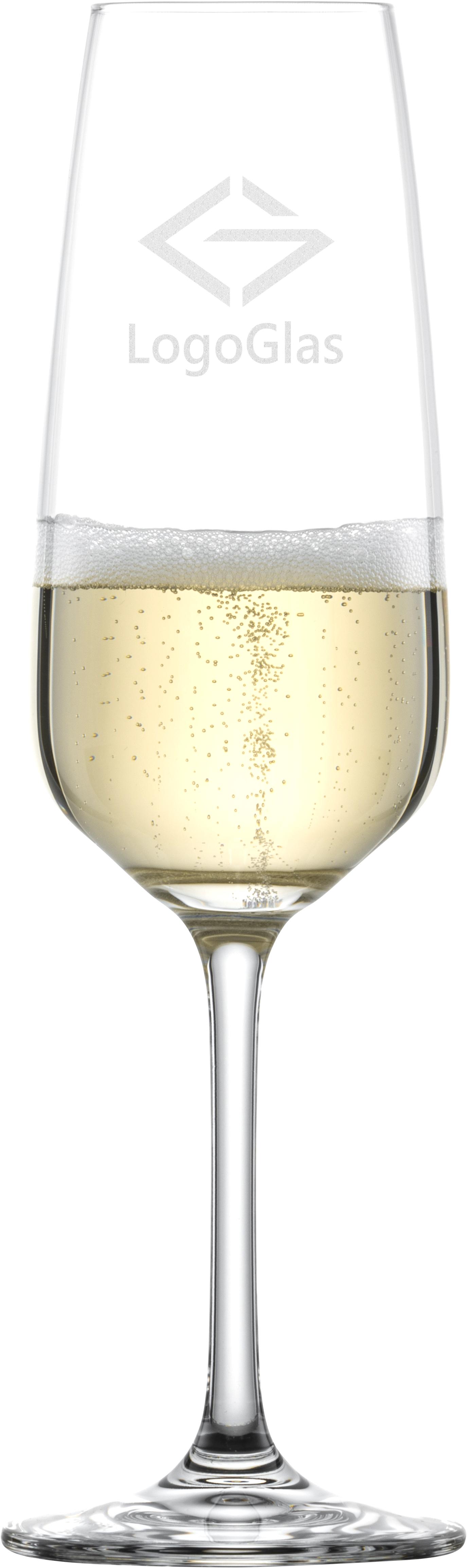 LOGO SCHOTT Sektglas TASTE 283ml | Champagnerflöte | mit Logo