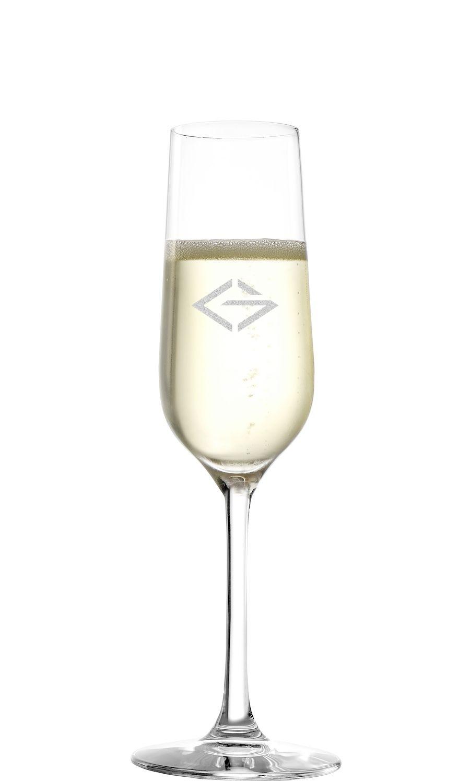 LOGO Stölzle Sektglas 200ml | Stölzle Revolution Sektflöte | mit Logo Gravur