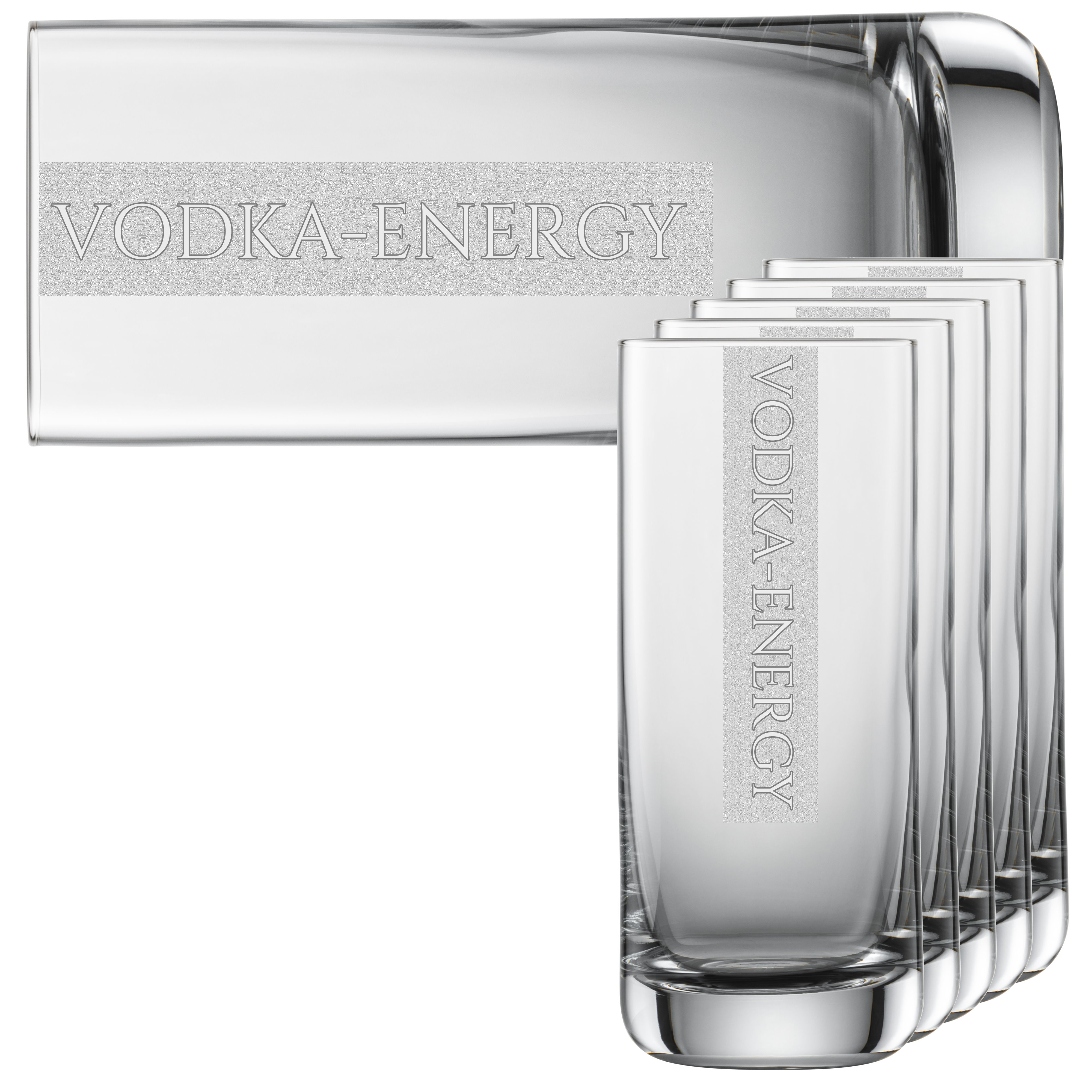 VODKA-ENERGY Gläser | 6 Stück 390ml Schott Longdrinkglas | CoolGlas