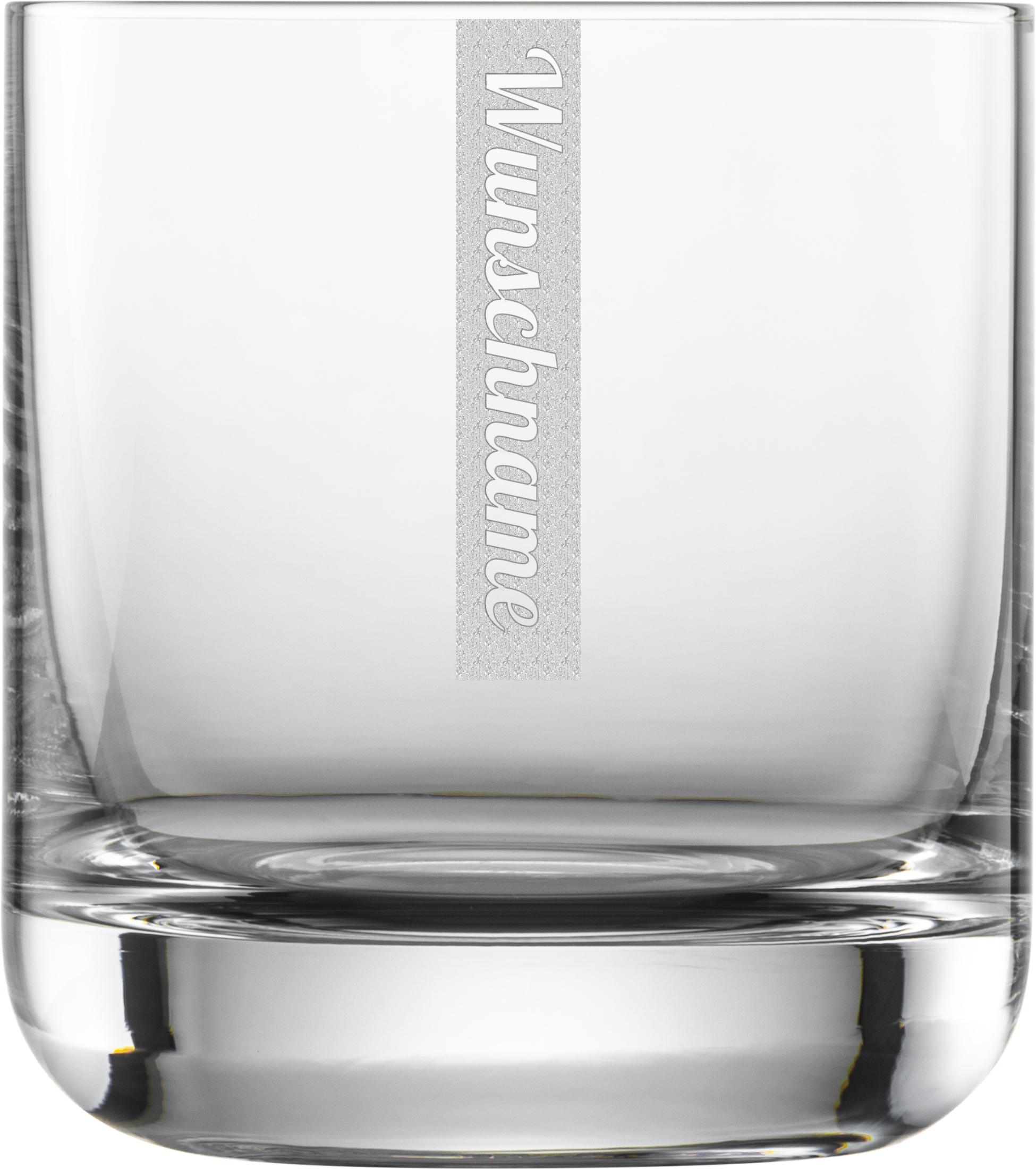 NAMEN Whiskyglas mit Wunschtext | Schott 300ml Tumbler | Gravur