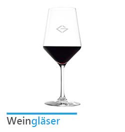 Weingläser mit Logo Gravur