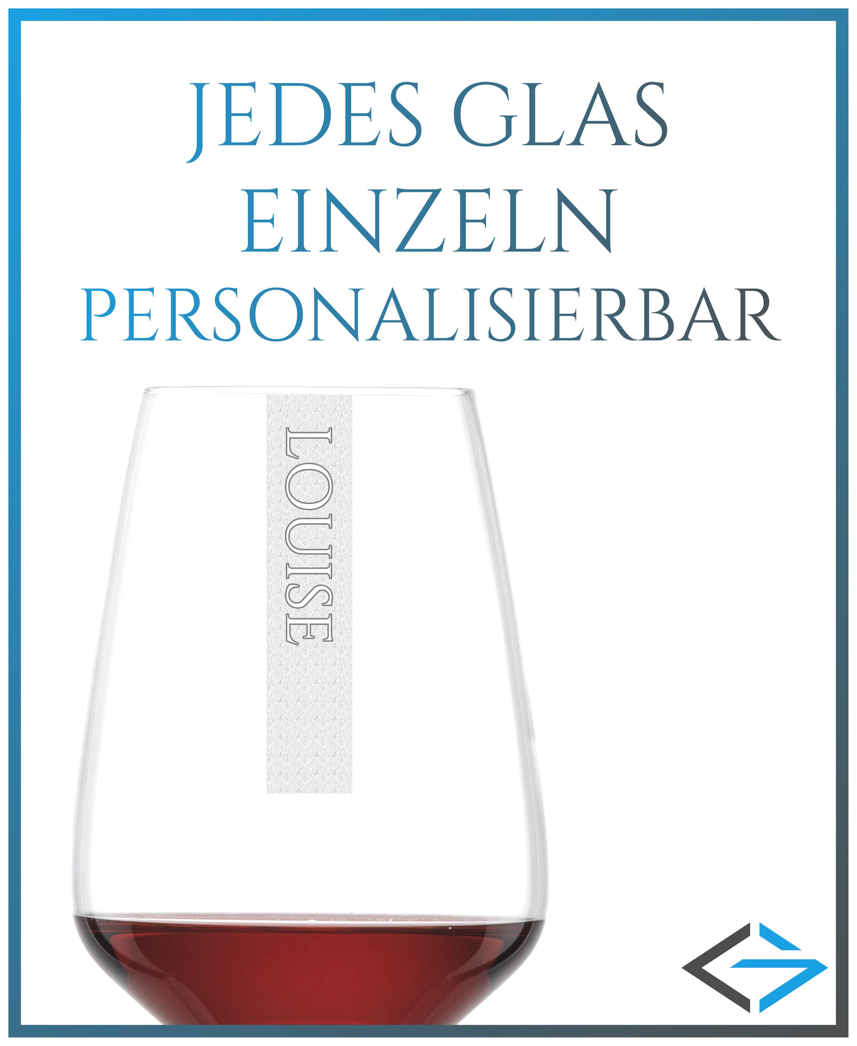 NAMEN Rotweinglas mit Wunschtext | 497ml Schott Taste Rotweinkelch personalisiert