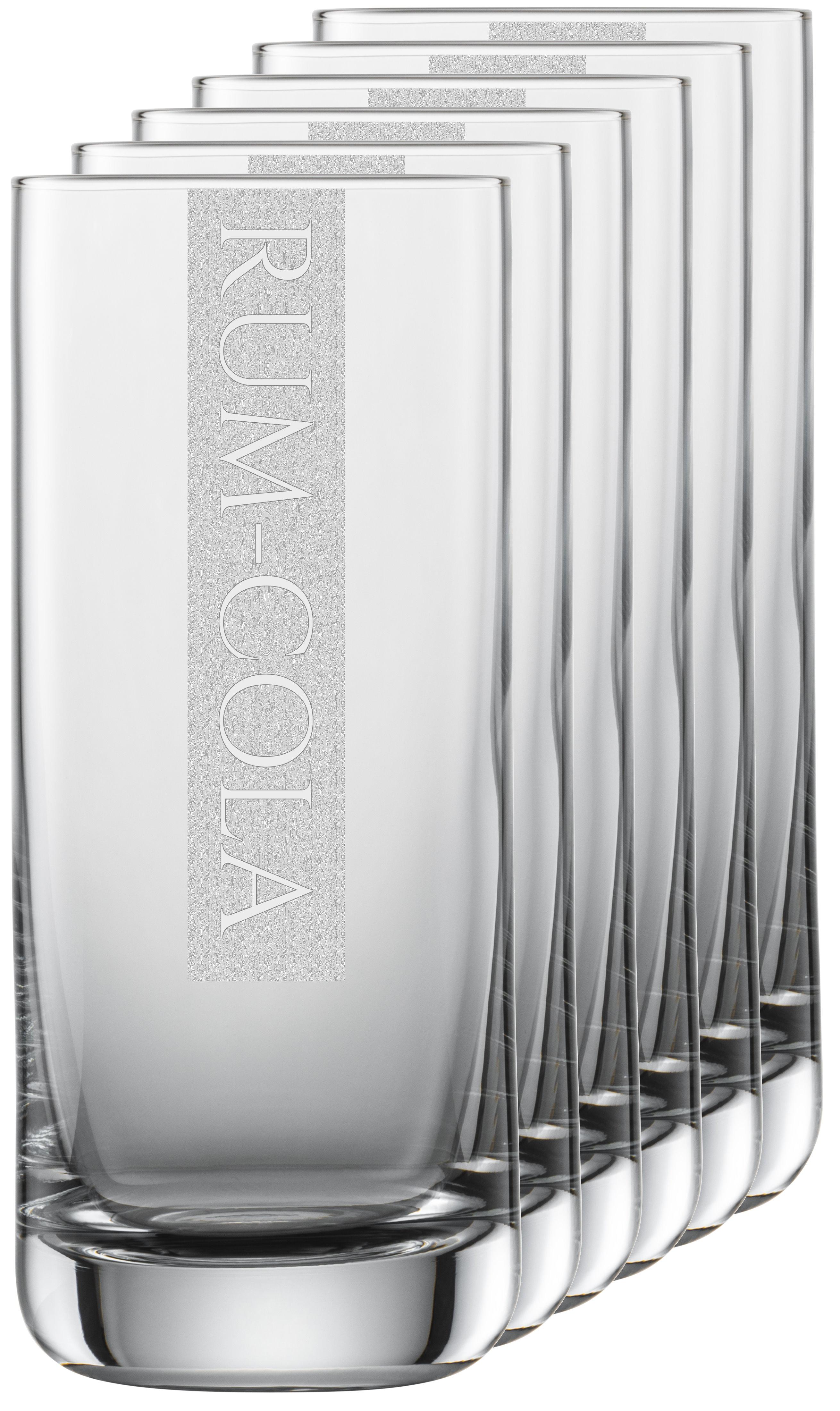 RUM-COLA Gläser | 6 Stück 390ml Schott Longdrinkglas | CoolGlas