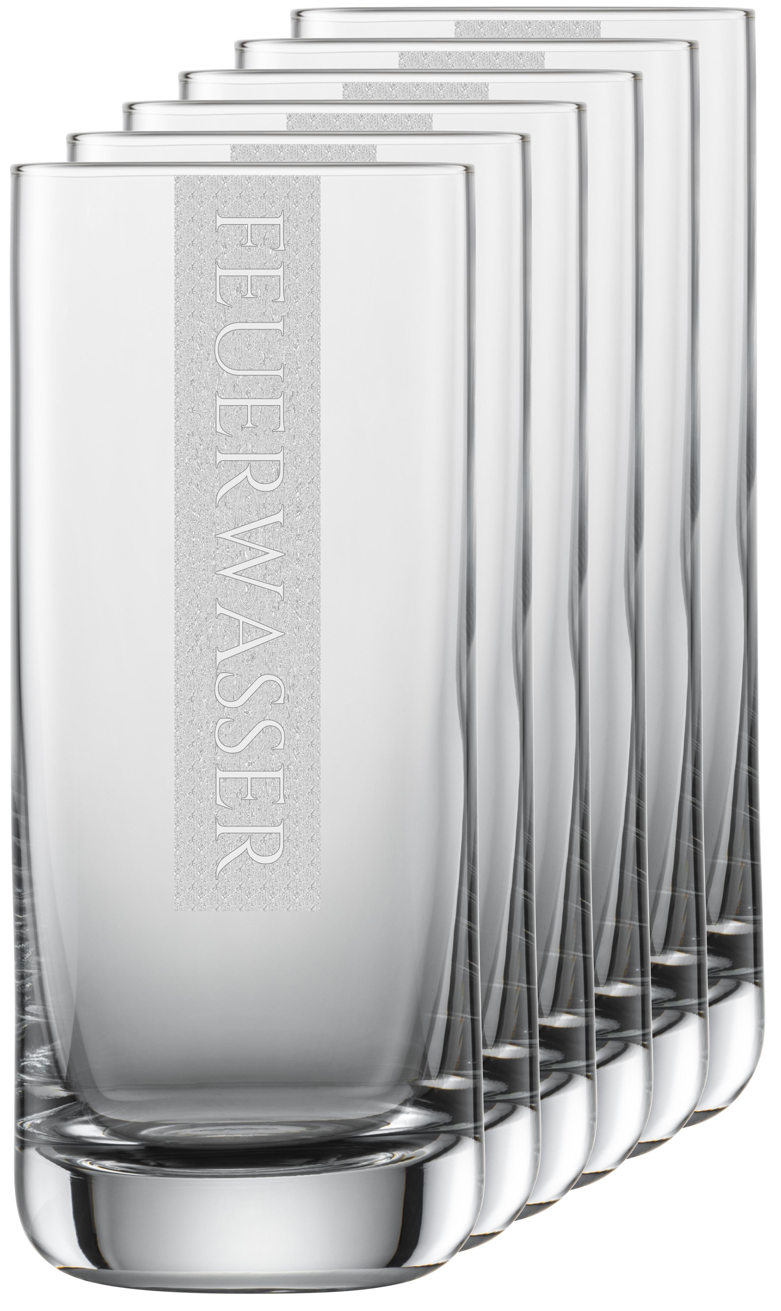 FEUERWASSER Gläser   6 Stück 390ml Schott Longdrinkglas   CoolGlas