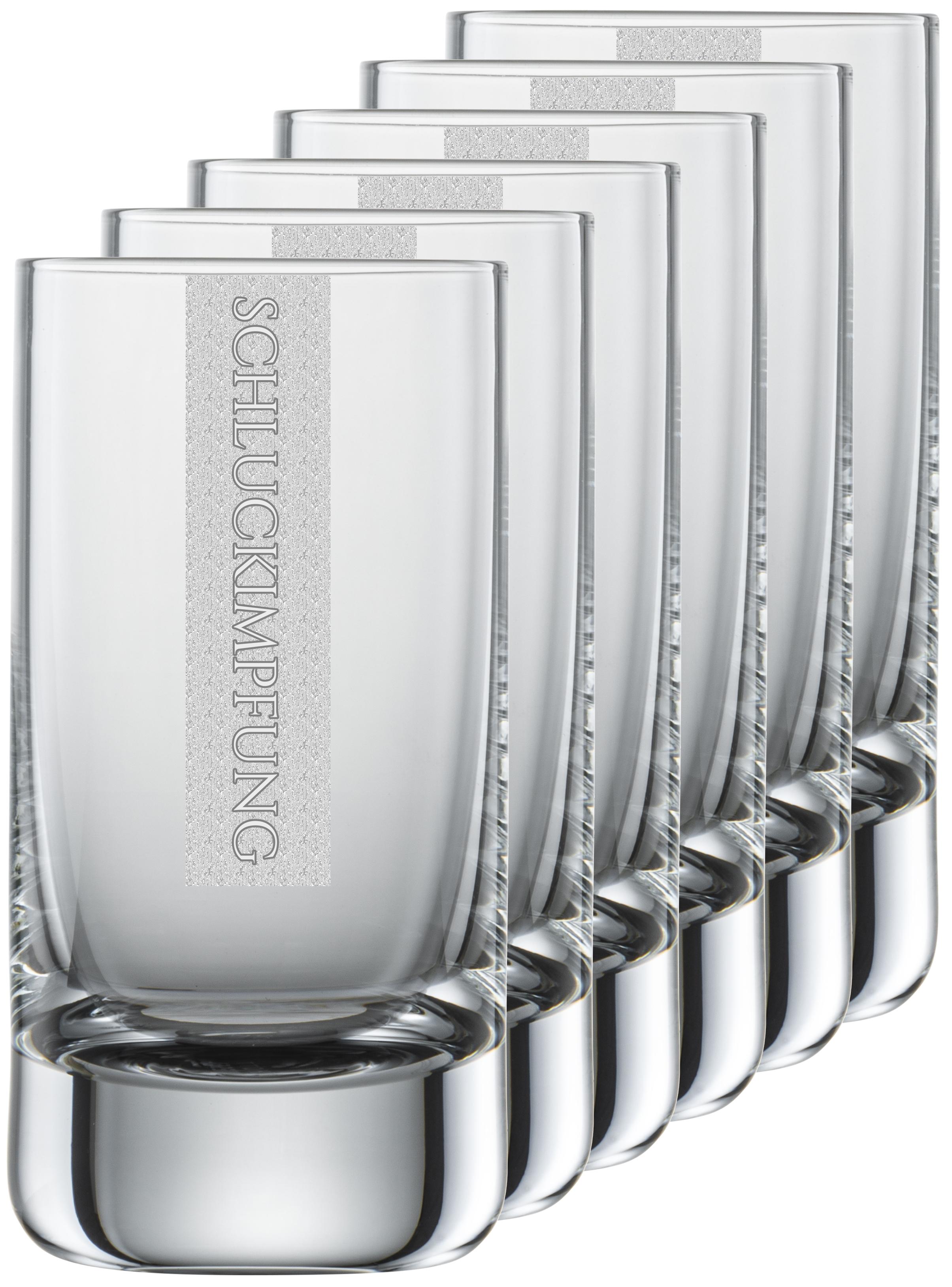 SCHLUCKIMPFUNG Gläser   6 Stück 5cl Schott Schnapsglas   CoolGlas