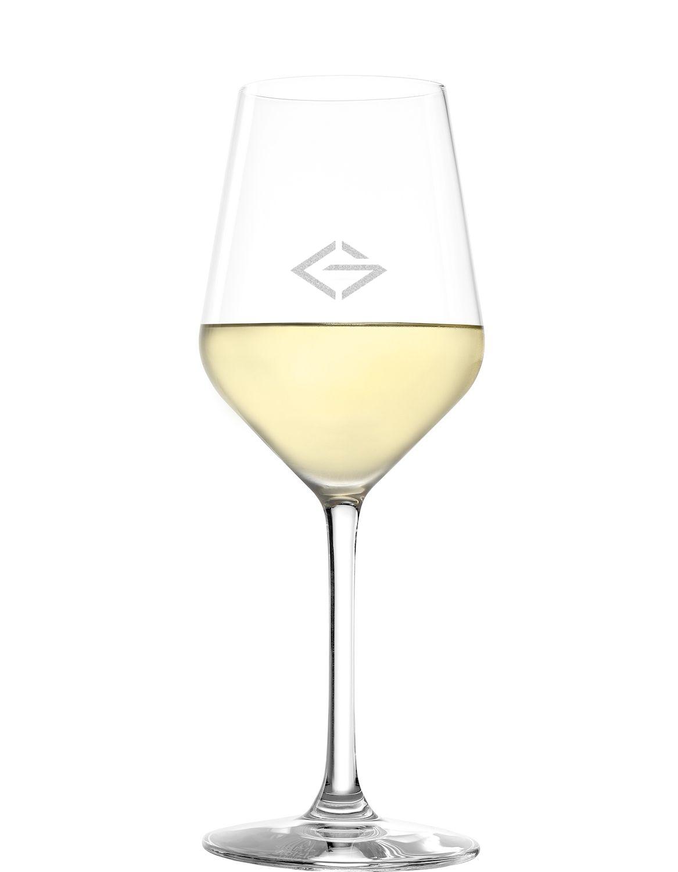 LOGO Stölzle Weißweinglas Revolution 365ml | Weißweinkelch | mit Logo Gravur