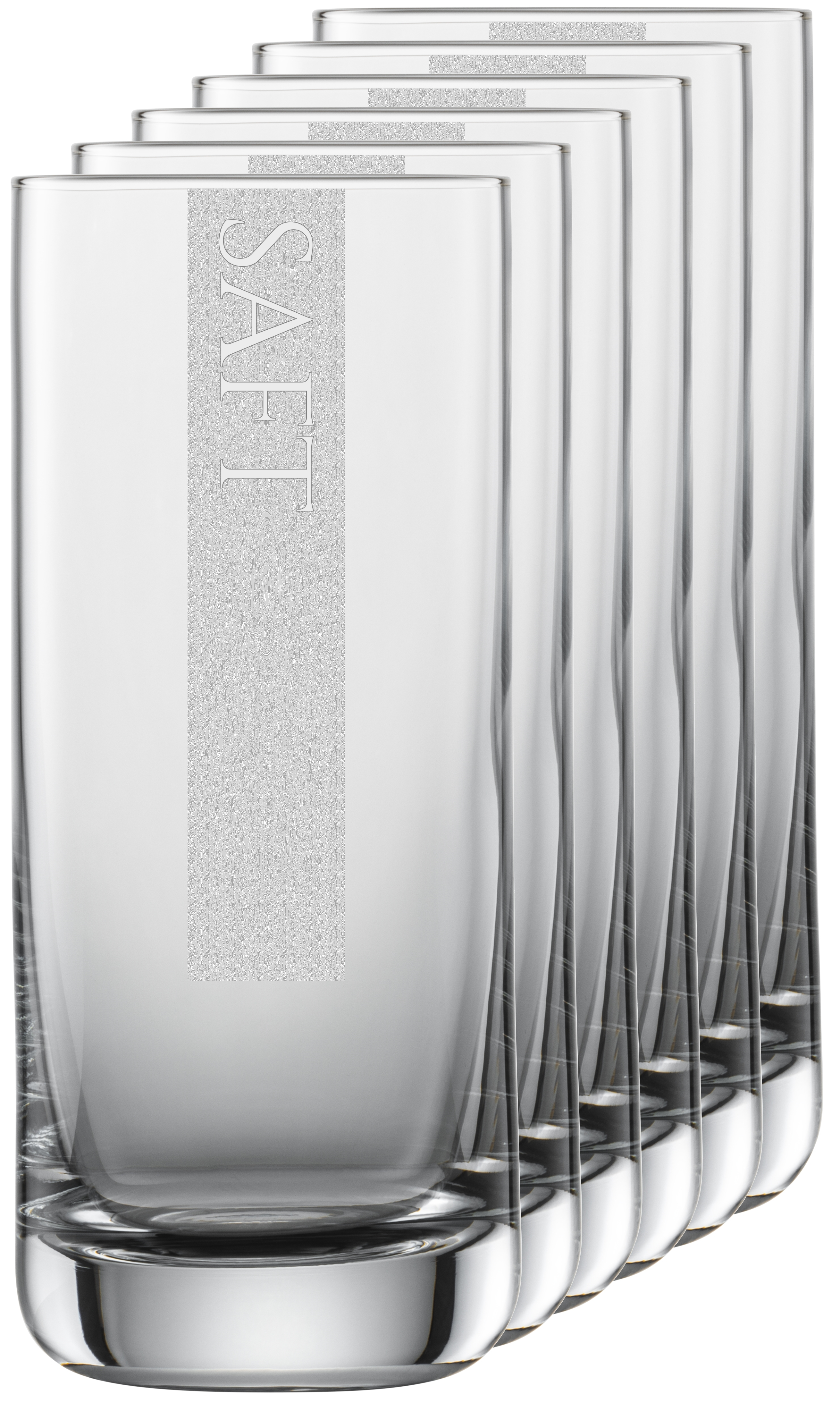 SAFT Gläser | 6 Stück 390ml Schott Longdrinkglas | CoolGlas