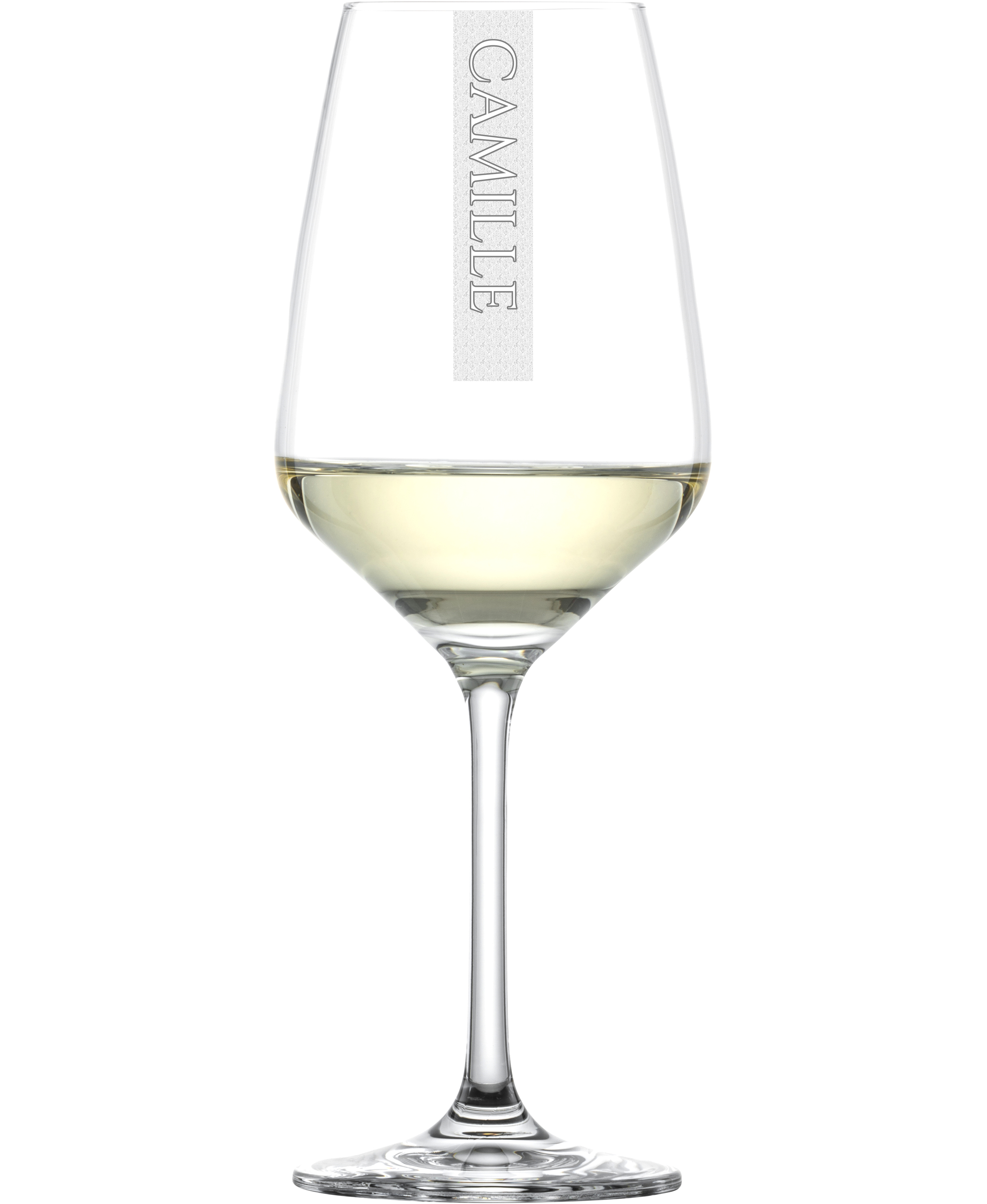 NAMEN Weißweinglas mit Wunschtext   356ml Schott Taste Weinkelch   Gravur