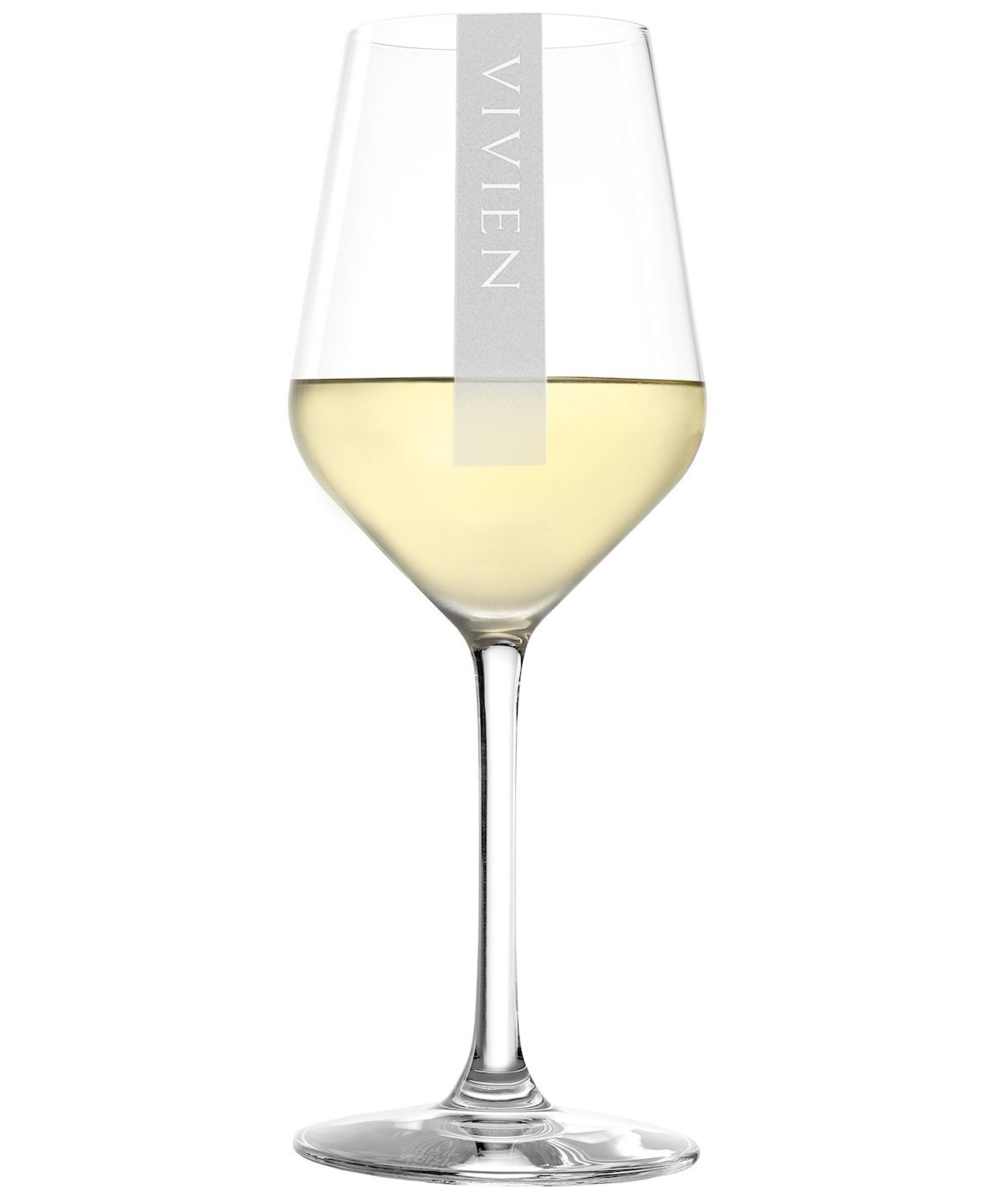 NAMEN Weißweinglas mit Wunschtext | 365ml Stölzle Revolution| Gravur