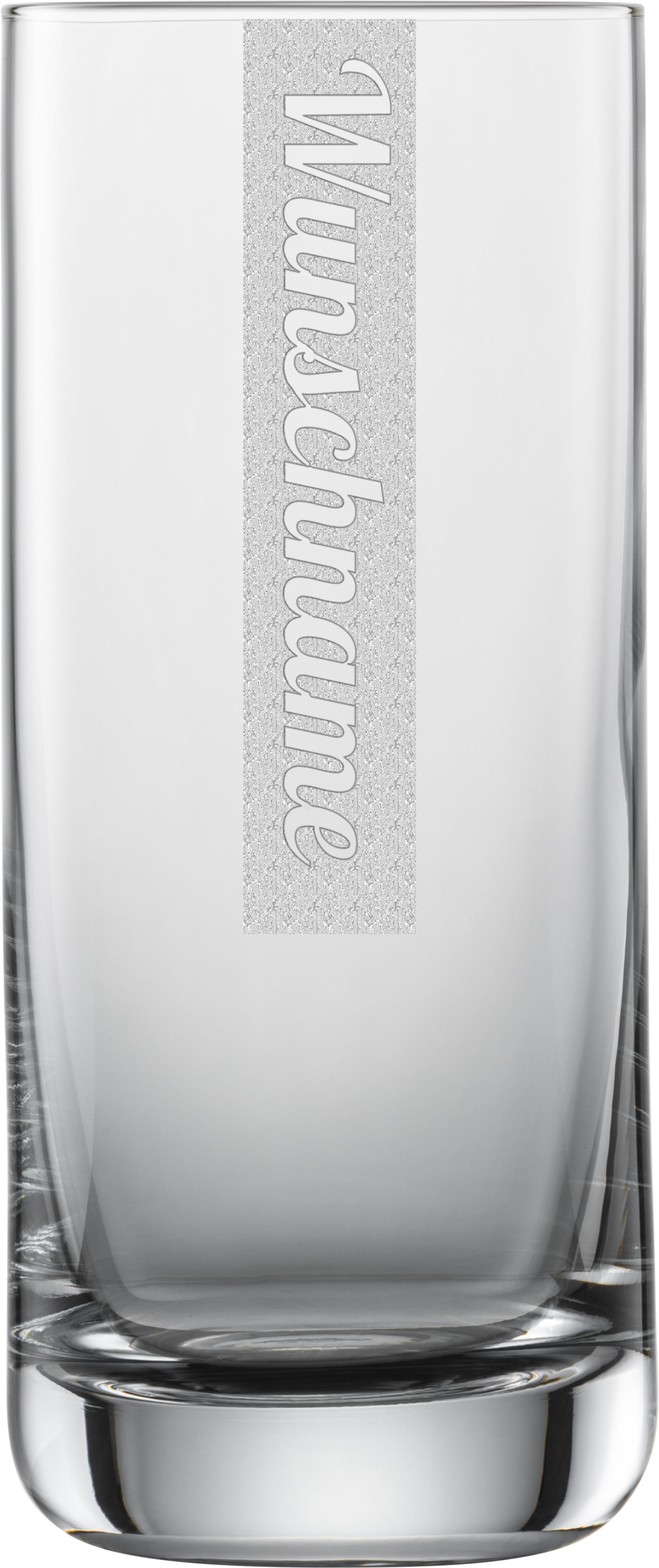NAMEN Longdrinkglas mit Wunschtext   Schott 390ml Tumbler   Gravur