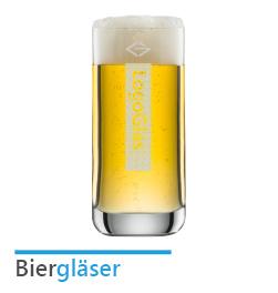 Biergläser mit Logo Gravur